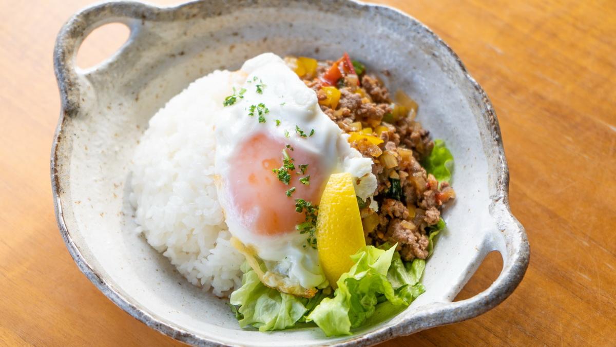 【cafe towaさん直伝】ラム肉のガパオライス