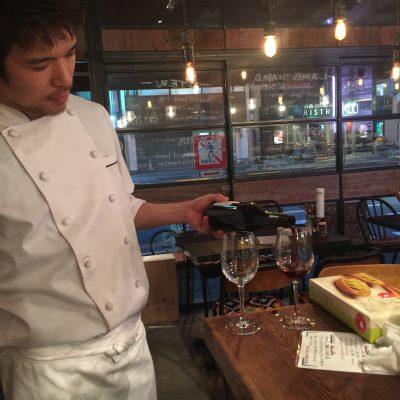 Bespoke Wine of Australia Shirazというワインを頂きました。お店ではブッチャーズオリジナルノンラベルという名前で2500円でした。